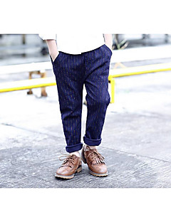Boy Casual/Daily Striped Pants-Cotton Fall