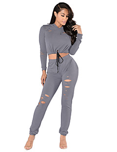 Women's Long Sleeve Running Tracksuit Tops Bottoms Clothing Sets/Suits Breathable Lightweight Materials ComfortableSpring Summer