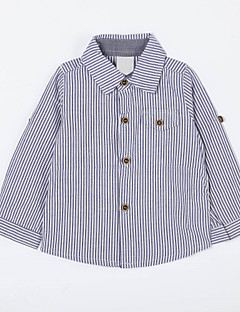 Baby Casual/Daily Striped Suit & Blazer,Cotton Fall-Blue