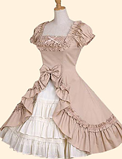 Skirt Sweet Lolita Princess Cosplay Lolita Dress White/Pink/Green Bowknot Short Sleeve Dress For Women Cotton Ruffle Princess Lolita Dress