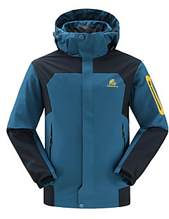 Hiking Softshell Jacket / Windbreakers / Tops Men's Waterproof / Thermal / Warm / Windproof Spring / Fall/Autumn PolyesterGreen / Red /