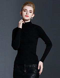 Szokványos Pulóver Női Egyszerű Casual/hétköznapi,Egyszínű Színes Terített nyak Hosszú ujj Kasmír / Műselyem Őszi / TéliKözepes