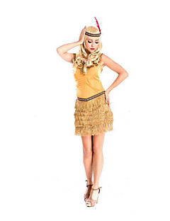 Festival/Holiday Halloween Costumes Yellow Solid Skirt / Headwear Halloween / Christmas / Carnival Female