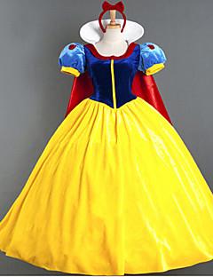 Cosplay Kostüme Party Kostüme Prinzessin Märchen Fest/Feiertage Halloween Kostüme Blau + gelb Patchwork Schleife Kleid Halloween Karneval