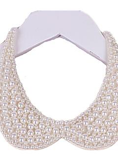 Femme Col Perle Forme de Cercle Bijoux Perle Tissu bijoux de fantaisie Fait à la main Elegant Bijoux Pour Mariage Soirée Anniversaire