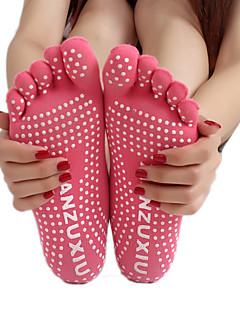 Női Zoknik Sportzoknik Lábujjas zoknik Csúszásgátló zoknik Jóga Pilates Légáteresztő Viselhető Csúszásgátló Kényelmes Védő-1 pár Barack