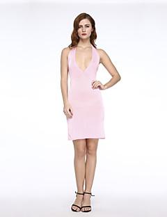שמלה - מעל הברך - אלסטי/מיקרופייבר - סקסי/צינור (צמוד לגוף)