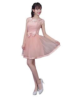 Short / Mini Lace Mix & Match Sets Bridesmaid Dress - A-line Strapless with Sash / Ribbon