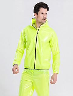 חולצת ג'רסי לרכיבה לנשים לגברים יוניסקס אופניים מעיל גשם עמיד למים עמיד מוגן מגשם ספנדקס קלאסי מחנאות וטיולים אביב קיץ סתיו חורףלבן שחור