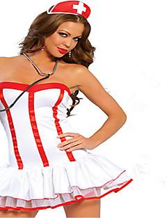 Στολές Ηρώων Κοστούμι πάρτι Κοστούμια καριέρας Nurses Γιορτές/Διακοπές Κοστούμια Halloween Λευκό Συνδυασμός Χρωμάτων Φούστα Καπέλο