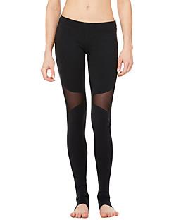 Jóga kalhoty Cyklistické kalhoty Spodní část oděvu Prodyšné Rychleschnoucí Pohodlné Komprese Natahovací Sportovní oblečení Černá Dámské