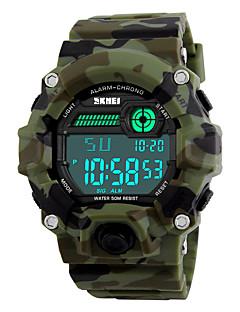 SKMEI Pánské Sportovní hodinky Vojenské hodinky Náramkové hodinky LED Kalendář Chronograf Voděodolné poplach Stopky Svítící Digitální PU