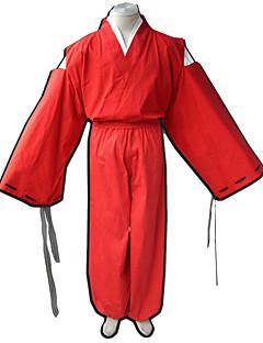 Inspirado por InuYasha Fantasias Anime Fantasias de Cosplay Ternos de Cosplay Cor Única Calças Mais Acessórios Capa de Kimono Para