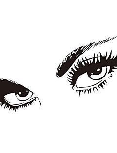 gratis forsendelse Hepburns øjne vinyl væg overføringsbilleder zooyoo8024 væg sticker 80 * 150cm vandtætte vinduer hjem dekorationer