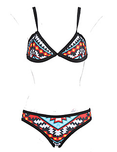 Frauen bunte Bikinis, geometrische Straped