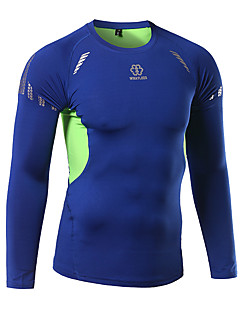 Cycling Jersey Men's Long Sleeve Bike Breathable Quick Dry Tops Silk Cotton Summer Fall/Autumn Winter Cycling/Bike