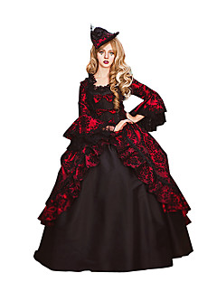 Steampunk®Wine Red an Black Marie Antoinette Masked Gall Gothic Victorian Dress