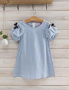 Mädchen Kleid Lässig/Alltäglich Gestreift Baumwollmischung Sommer Kurzarm