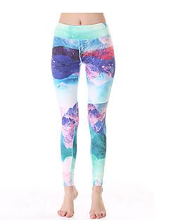 calças de yoga Meia-calça Leggings Respirável Secagem Rápida Compressão Tecido Ultra Leve Com Elástico Moda Esportiva Mulheres Yokaland®