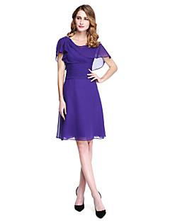 Lanting Bride® A-Linie Šaty pro matku nevěsty - Krásná záda Ke kolenům Bez rukávů Šifón  -  Křišťálová brož Sklady