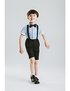 Комбинирование ткани (полиэфир/хлопчатник) Детский праздничный костюм - 4 Куски Включает в себя Рубашка Брюки Галстук-бабочка Подтяжки