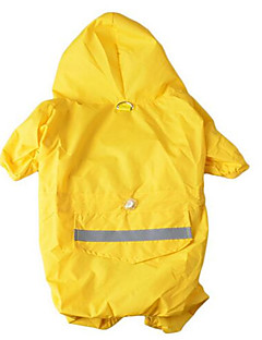 Dog Rain Coat Dog Clothes Waterproof Sports Solid Yellow Ruby Blue Camouflage Color