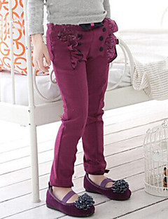 Girl's Cotton Fashion Spring/Fall/Winter Going out/Casual/Daily Warm Sweet Bowknot Ruffle Children Elasticity Pants