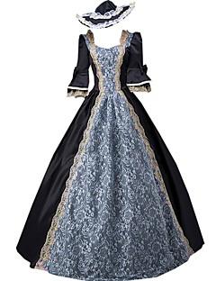 Badpak/Jurken Gothic Klassiek en Tradtioneel Lolita Geïnspireerd door vintage Elegant Victoriaans Rococo Prinses Cosplay Lolitajurk Effen