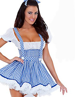 Cosplay Kostuums Feestkostuum Dienstmeisje Pakken carrière Kostuums Film cosplay Blauw Effen Kleding Hoofddeksels Halloween Carnaval