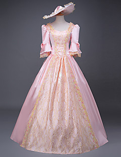 Jednodílné/Šaty Maškarní Klasická a tradiční lolita Princeznovské Retro Elegantní Viktoria Tarzı Rococo Cosplay Lolita šaty Růžová