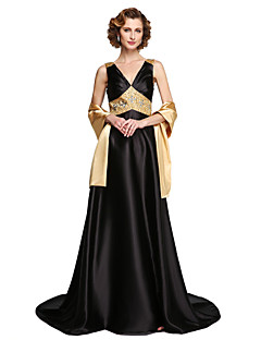 2017 Lanting Bride® A-line Mother of the Bride Dress - Sparkle & Shine Two Pieces Floor-length Sleeveless Satin