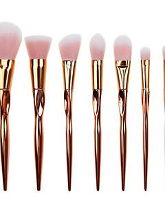 7 Brush Sets Rougebørste Øjenskyggebørste Concealer-børste Pudderbørste Foundationbørste Konturbørste Syntetisk Hår Fuld Dækning Plastik