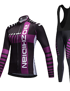 AOZHIDIAN Spring/Summer/Autumn Long Sleeve Cycling JerseyLong Bib Tights Ropa Ciclismo Cycling Clothing Suits #AZD063