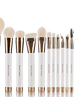 12 Makeup Brush Set Goat Hair Professional Portable Plastic Face Eye Lip