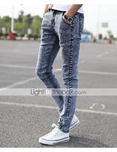 גברים aolongqishi® צפצף טהור מזדמן (כותנה / ג'ינס) 8191
