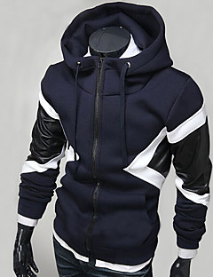 Men's Casual/Daily Sports Going out Active Simple Street chic Hoodie Color Block Crew Neck Micro-elastic Polyester Long Sleeve Spring Fall
