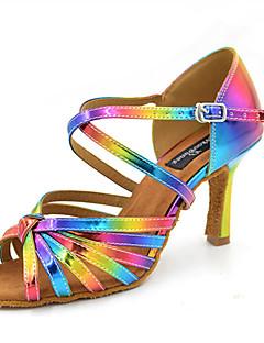 Customizable Women's Dance Shoes Satin Latin Jazz Swing Shoes Salsa Sandals Heels Customized HeelPractice Beginner Professional