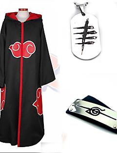 קיבל השראה מ Naruto Akatsuki אנימה תחפושות קוספליי חליפות קוספליי אביזרים נוספים אחיד שרוול ארוך גלימה עוד אביזרים עבור יוניסקס