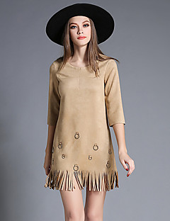 MAXLINDY Women's Tassel Going out / Party / Holiday Vintage / Street chic /A Line Dress