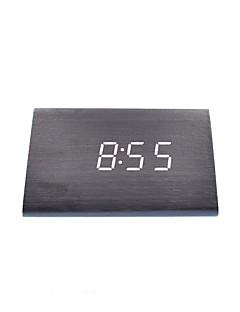 raylinedo® cele mai recente design alb moda lemn negru condus lemn afișare alarmă ceas digital de -time data temperatura luminii - voce și