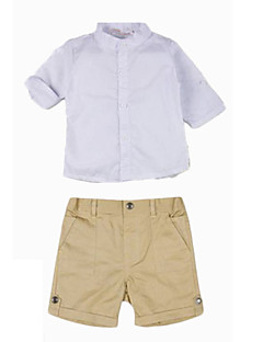 Boy Going out Casual/Daily Party/Cocktail Solid Sets,Cotton Polyester All Seasons Long Sleeve Clothing Set