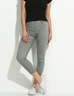 Damer Ensfarvet Legging,Bomuld Spandex Normal