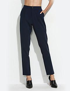 Eenvoudig-Polyester / Spandex-Micro-elastisch-Kostuum / Harem-Broek-Vrouwen