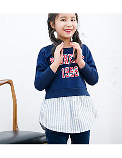 Girl Casual/Daily School Print Hoodie & Sweatshirt,Cotton Spandex Summer Spring Fall Long Sleeve Regular