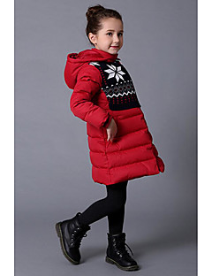 Girl Casual/Daily Solid Down & Cotton Padded,Rayon Winter