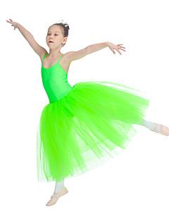 בלט חצאיות טוטו וחצאיות בגדי ריקוד נשים בגדי ריקוד ילדים ביצועים ניילון טול לייקרה חלק 1 בלי שרוולים שמלות