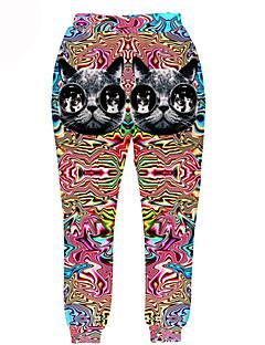 Kalhoty Cosplay Lolita šaty Hnědá Růžová Tisk Kalhoty Pro Muži Terylen Polyester
