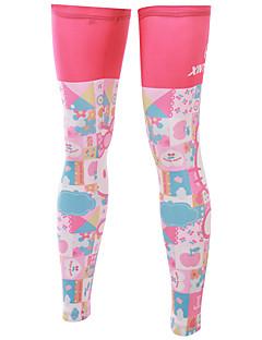 다리 따뜻하게 자전거 통기성 빠른 드라이 자외선 방지 절연 안티 발광 착용 가능한 땀 흡수 기능성 소재 선크림 여성의 남성의 남녀 공용 핑크 엘라스틴 테릴렌