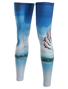 다리 따뜻하게 자전거 통기성 빠른 드라이 자외선 방지 절연 안티 발광 착용 가능한 땀 흡수 기능성 소재 선크림 여성의 남성의 남녀 공용 밝은 블루 엘라스틴 테릴렌