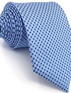 남성제품 빈티지 귀여운 파티 작업/오피스 캐쥬얼 레이온 넥타이,도트무늬 블루